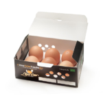 Uova Biologiche – scatola da 8 confezioni (6 uova per confezione), 48 Uova totali